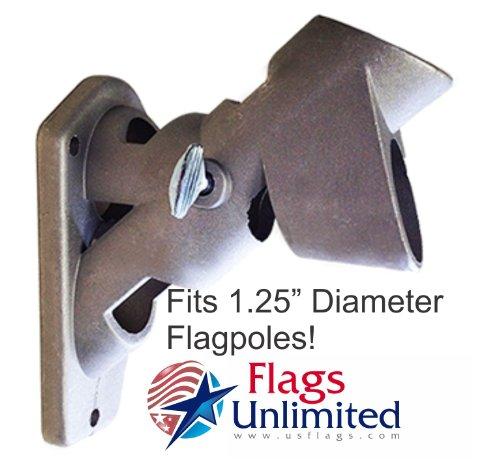 Aluminum Flagpole Bracket 2-Position For 1.25 Flagpole by (2 Position Flagpole)