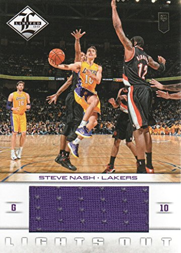 2012-13 Limited Basketball Lights Out Jersey #21 Steve Nash 050/199 Los Angeles Lakers