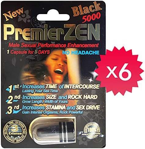 *New* PremierZEN Black 5000 Male Performance Enhancement Pill. Natural & Effective. (6)