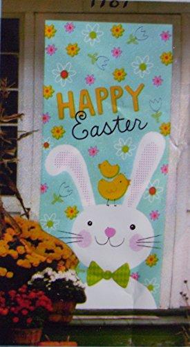 Happy Easter Colorful Door Cover - 30 in x 60 in. (Easter Bunny)