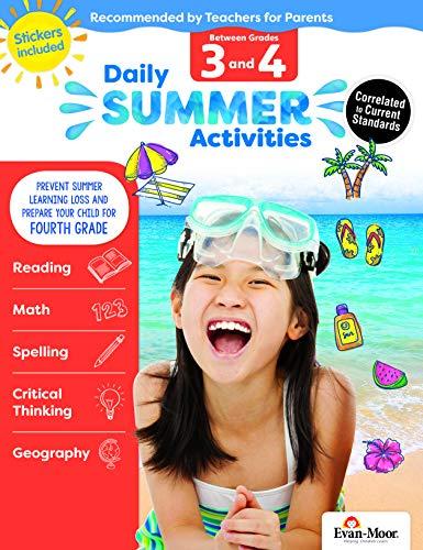 Evan-Moor Daily Summer Activities, Between 3rd Grade and 4th Grade Activity ()