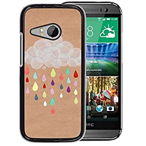 Planetar® ( Cloud Drawing Colorful Brown ) HTC ONE MINI 2 / M8 MINI Fundas Cover Cubre Hard Case Cover