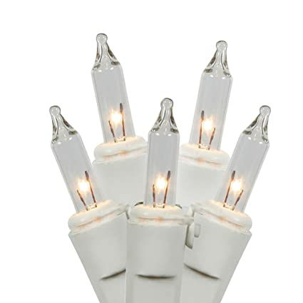 """Vickerman W4W0751 50Lt Random Twinkle End Connecting Light Set with White  Wire, 4"""" Spacing - Amazon.com: Vickerman W4W0751 50Lt Random Twinkle End Connecting"""