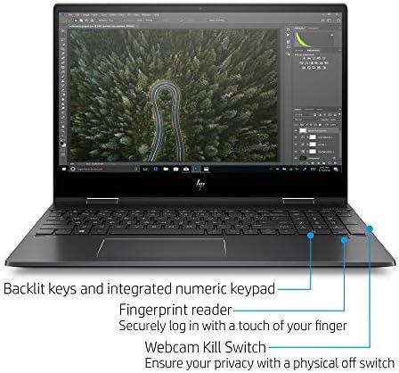 Flagship 2021 HP Envy 15 x360 2 in 1 Laptop 15.6″ Diagonal FHD IPS Touchscreen Display AMD 6-Core Ryzen 5 4500U 32GB RAM 512GB SSD Fingerprint Backlit Wifi6 USB-C HDMI B&O Win10 + iCarp Pen 51KuHBMNE8L