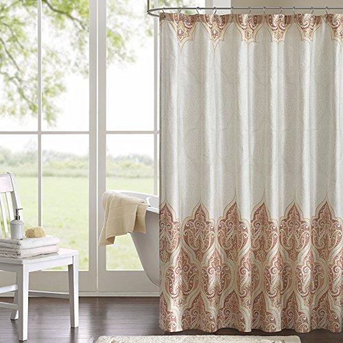 DS BATH Harbor Shower Curtain,Fabric Shower Curtain,Paisley