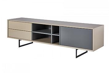 CAGUSTO® Lowboard TITRAN, Exklusiver TV Schrank Mit Füßen Aus Schwarzem  Metall, Moderner