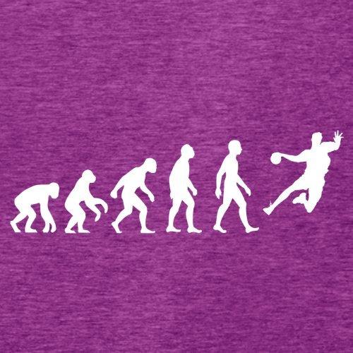 Evolution Of Man Handball - Femme T-Shirt - Violet - L