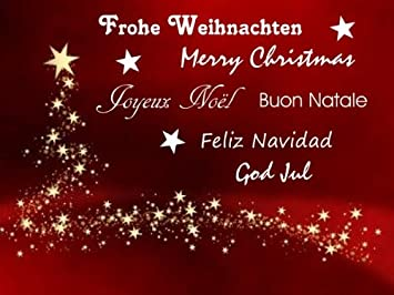 Wandtattoo Frohe Weihnachten Merry Christmas In Gold