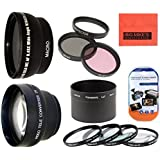 Deluxe Lens Kit for Panasonic LUMIX DMC-LX7 Digital Camera Includes 52mm 3PC Filter Kit + 4PC (+1 +2 +4 +10) Close Up Filter Set + 52mm 2X Telephoto Lens + 52mm 0.43x Wide Angle Lens with Macro Filter Adapter + More!!