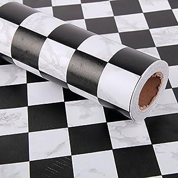 Amazon Com Simplelife4u Black White Mosaic Contact Paper