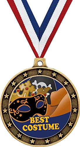 Gold Halloween Contest Medals - 2.5