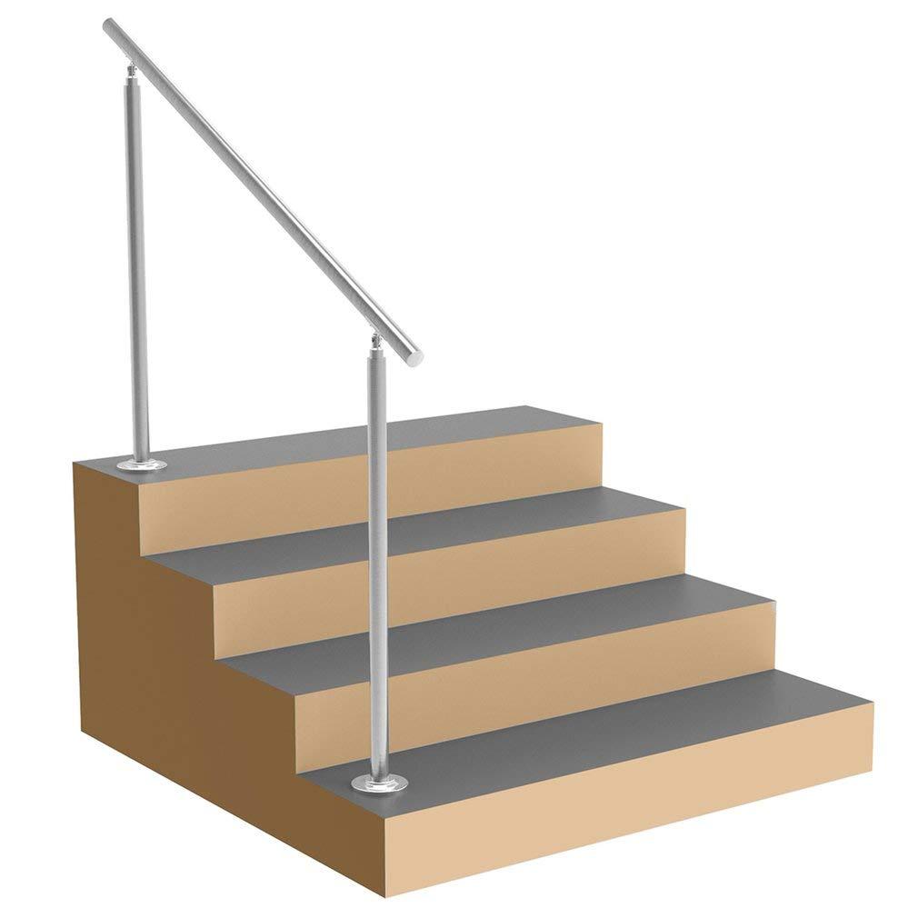 Treppengel/änder f/ür Treppen Br/üstung Balkon Terrasse 80cm // 4 Traverse Tatayang Edelstahl Gel/änder Handlauf