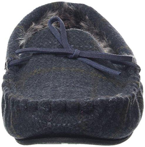 Low Foderato blu Cappuccio Pantofole In Con top Uomo Da Scuro Pelliccia nZxnzYdq