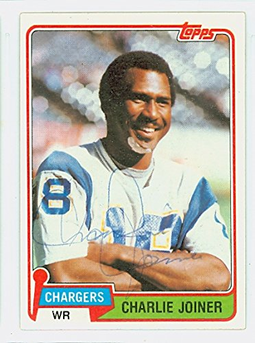 Charlie Joiner AUTOGRAPH 1981 Topps Football #496