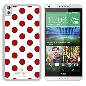 Fashionable And Unique Kate Spade Cover Case For HTC Desire 816 White Phone Case 297