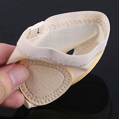 Smart Fun Fuß Tanga Ballett Bauch Tanz Mittelfuß Pads Ball der Foot Vorfuß Kissen Fuß Unterstützung Größe L
