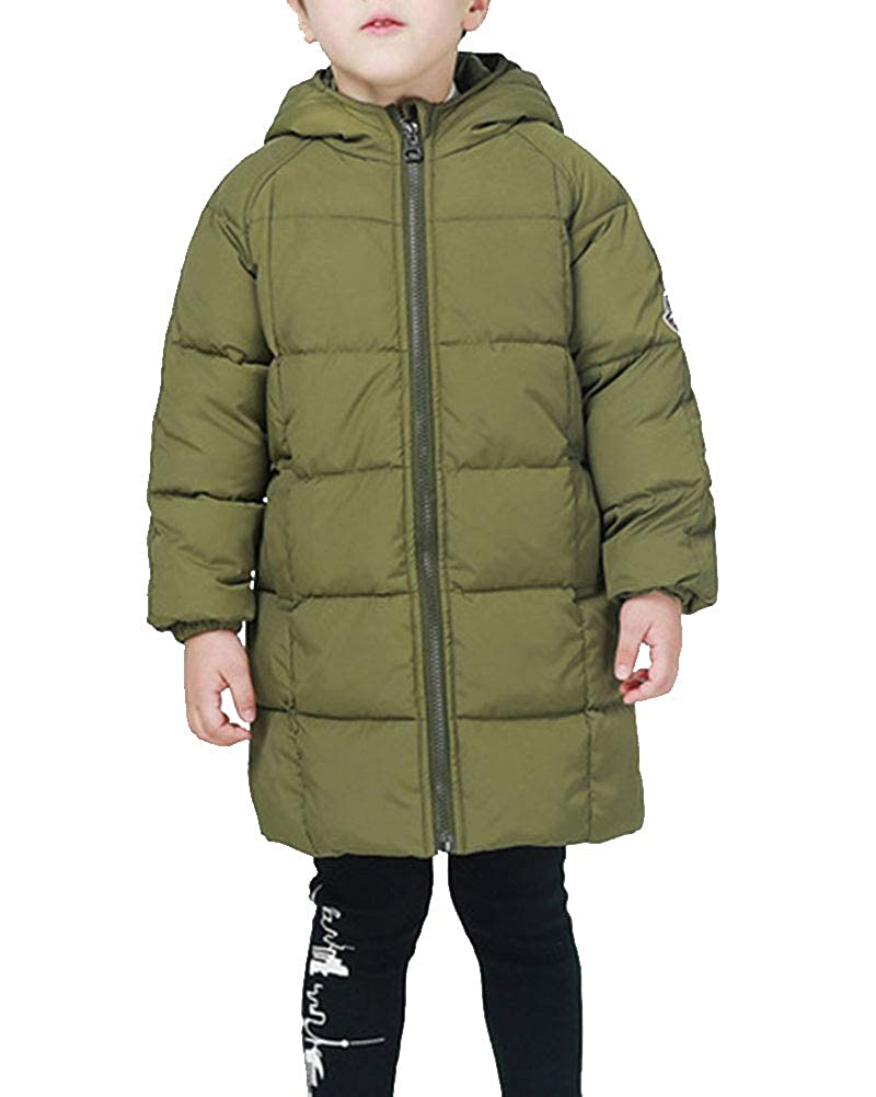 Liangzhu Kinder Jungen M/ädchen Daunenjacke Winterjacke Steppjacke,Kinder Warme Jacket Parka Outerwear Mit Kapuze