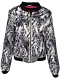 IWEA Exclusive Collection Women's Zip Up Jacket Sweatshirt Long Sleeve Coat Snakeskin Design - IW012, XL