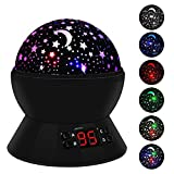 LBell Star Sky Night Light, Rotating Cosmos Star Projector Lamp with LED Timer Auto-Shut Off, Color Changing, USB Cable Plug for Baby Kids Nursery Bedroom Living Room