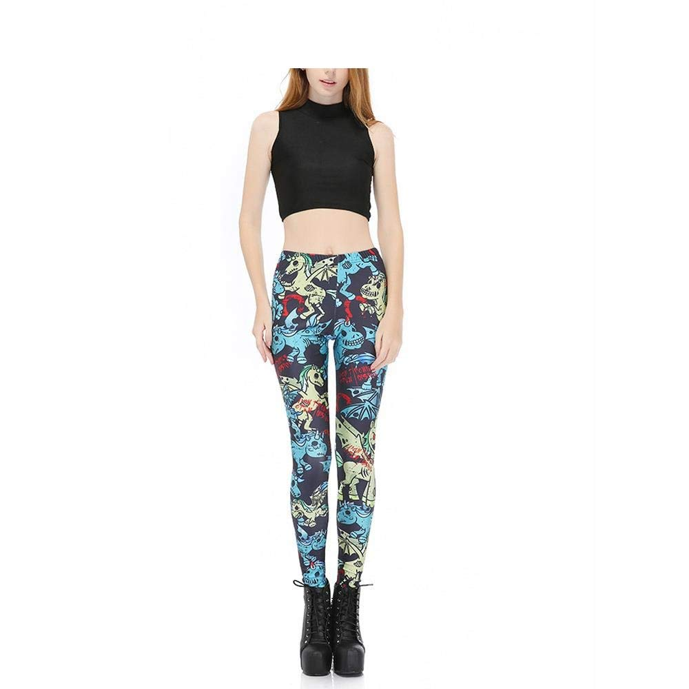 25fbbf6fcde Women s Long Sports Leggings Running Tights High Waist Stretch Fitness Yoga  Pants God Horse Pegasus Unicorn 3D Digital XXL  Amazon.co.uk  Clothing