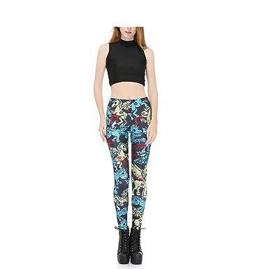 29a2b950f7 Women's Long Sports Leggings Running Tights High Waist Stretch Fitness Yoga  Pants God Horse Pegasus Unicorn