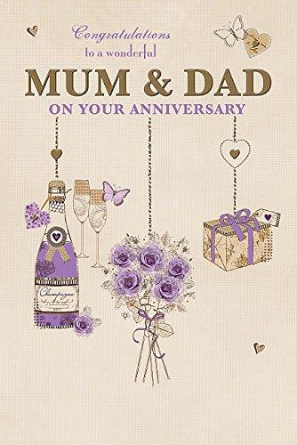 Mum and Dad - Anniversary Congratulations Nice Verse Greeting Card (Wedding Anniversary Verses For Mum And Dad)