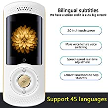 Intelligent Translator 45 Language Simultaneous Translators WiFi Voice Abroad Travel Translation Artifact 2.0 Inch Large Screen White