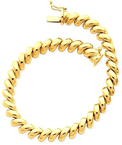ICE CARATS 14k Yellow Gold San Marco Bracelet 7 Inch Fine Jewelry Gift Set For Women - Marcos Premium San