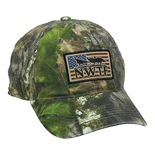 Outdoor Cap NWTF American Flag Mossy Oak Obsession National Wild Turkey Federation Camo Hunting Hat