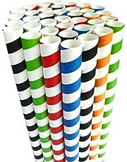 Boba rietjes wegwerp zeepbel thee smoothie stro Jumbo milkshake drinkpapier rietjes biologisch afbreekbaar extra super breed 0,5 inch groot voor tapioca parels feestbenodigdheden decoraties kleurrijk 50 pack