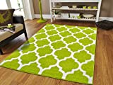Cheap New Fashion Luxury Morrocan Trellis Rugs Green and White Rugs with Lines Rugs For Dining Room 8×10 Soft Rugs For Bedrooms Large Rugs For Living Room Cheap, Large 8×11 Rug