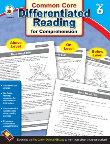 Differentiated Reading for Comprehension, Grade 6