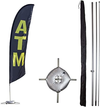 ATM Quantity 3 Super Flag /& Pole Kits