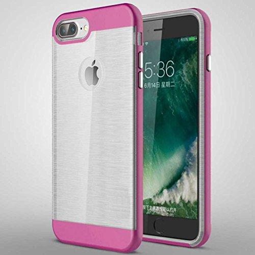 """5.5"""" iPhone 7 Plus Coque, AOFad Case Concis Protection des lourds Mince Rose Plastique Hybride Accessoires Série Pour Femme Homme L207"""