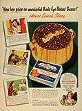 1945 Ad Birds Eye Snider Inc Baked Beans Corn
