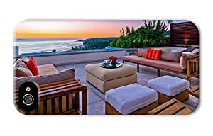 Hipster customized iPhone 4S cases Beach Outdoor Lounge PC 3D for Apple iPhone 4/4S