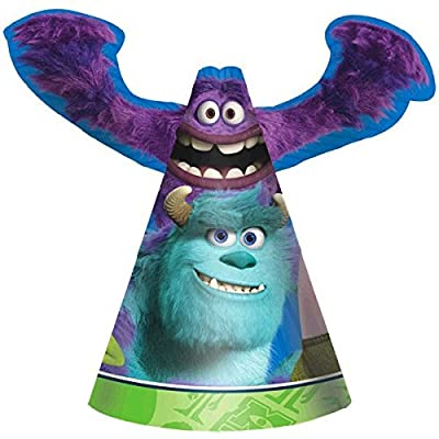 """Amscan Oozma-Kappa-Mazing Disney Monsters University Die-Cut Paper Birthday Party Cone Hats Supply (Pack of 8), Multicolor, 6"""": Toys & Games"""