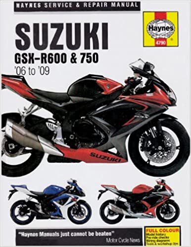 Title suzuki gsx r600 and 750 service and repair manual 2006 to title suzuki gsx r600 and 750 service and repair manual 2006 to 2009 haynes service and repair manuals matthew coombs 9781844257904 amazon books fandeluxe Gallery