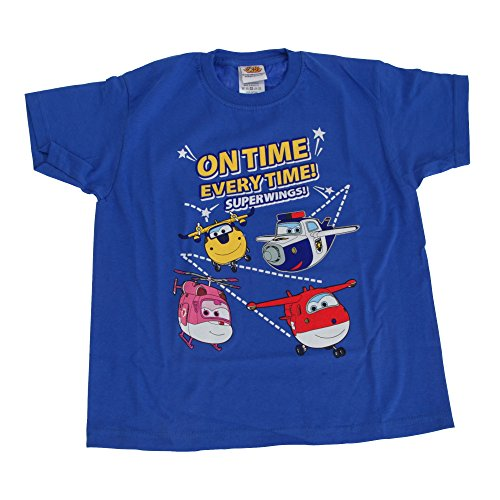 Super Wings Toddler Boys On Time Every Time T-Shirt (3-4 Years) (Blue) ()
