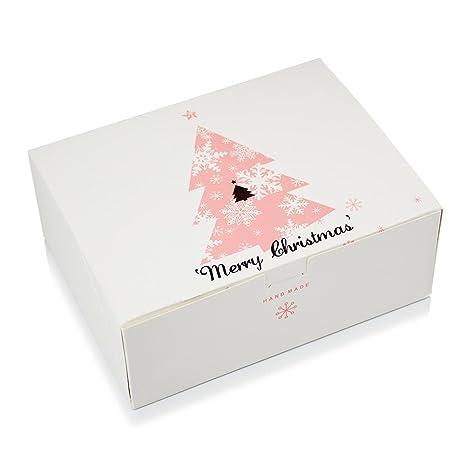 wytd Árbol de Navidad Ajedrez Cake Cookies Pastelería Cake cajas de regalo (4 unidades)