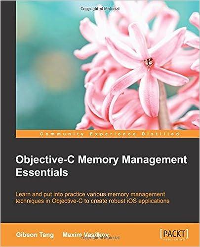 Objective C Memory Management Essentials ISBN-13 9781849697125