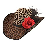 Charlie 1 Horse Hats Womens On The Prowl Felt Fashion Hat 71/8 Leopard