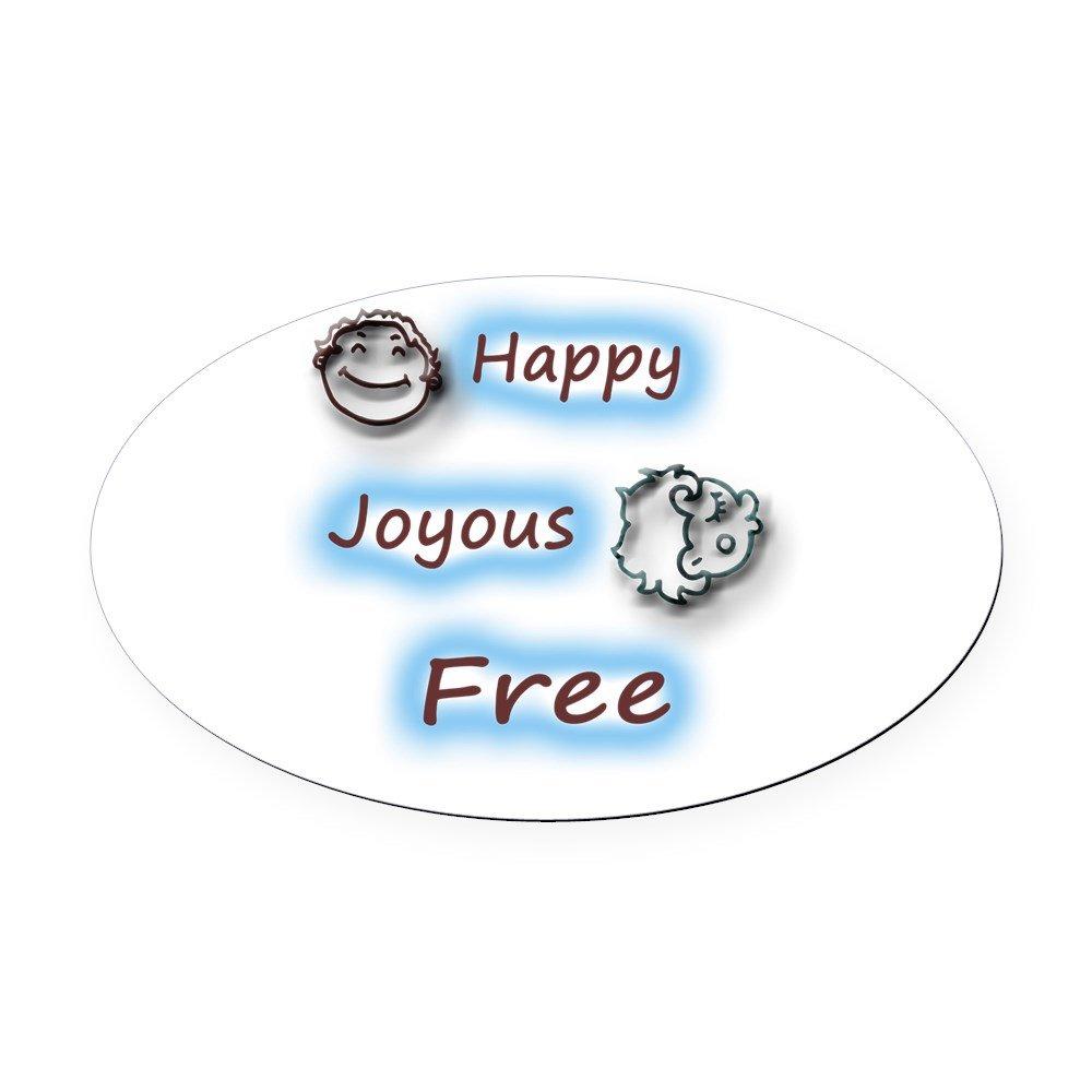 Amazon com cafepress happyjoyous and free oval car magnet oval car magnet euro oval magnetic bumper sticker automotive