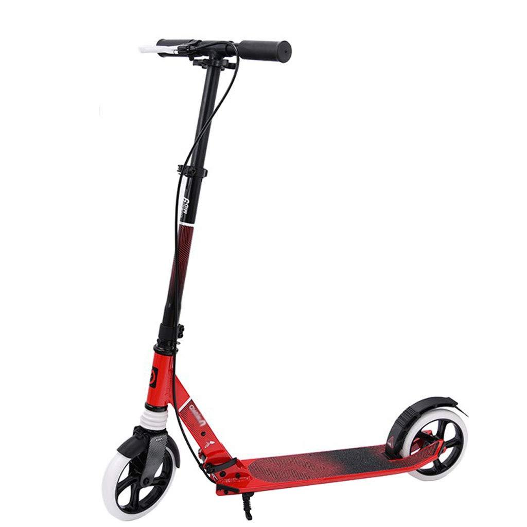 スクーターセーフティハンドブレーキティーンキックスクーター|写真ティーンキックスクーター通勤スクーター、シティスクーター、8歳以上のお子様への最高の贈り物|ビスタプリント220ポンドをサポート  白い