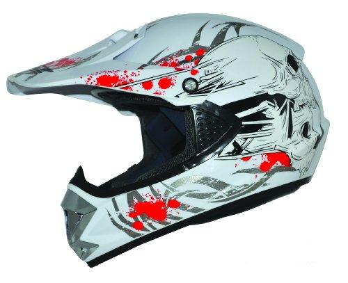 Kids Pro Kinder Crosshelm Weiß Größe: S 55-56cm Kinderhelm Kinder Cross BMX MX Enduro Helm