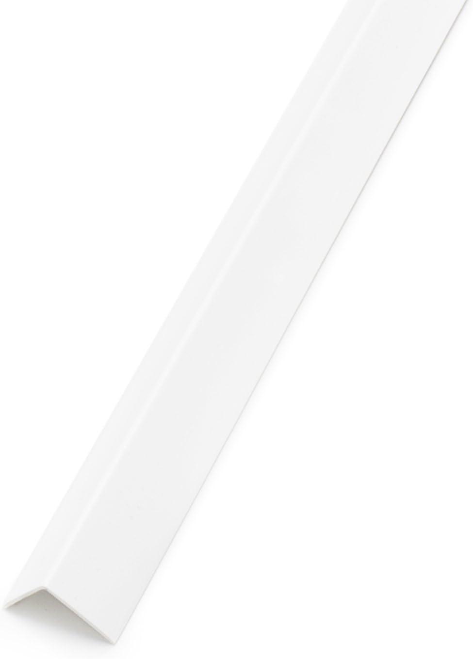 25x25mm Eiche Winkelleiste PVC Winkelprofil Kunststoffwinkelprofil Kunststoff-Profil 1m DQ-PP