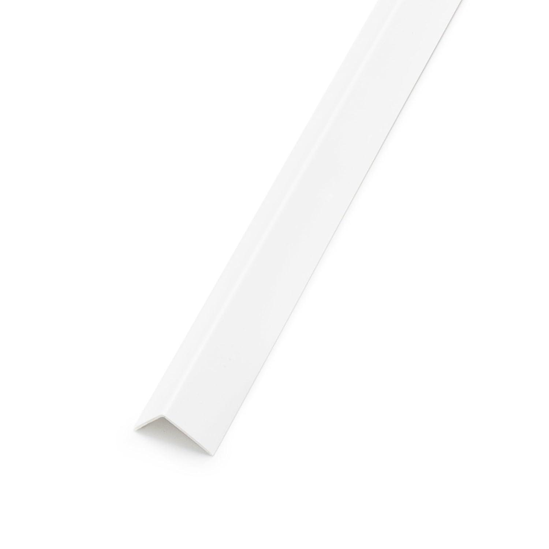 2m Winkel Leisten PVC Kunststoffwinkelprofil Winkelprofil Fensterleiste Weiß