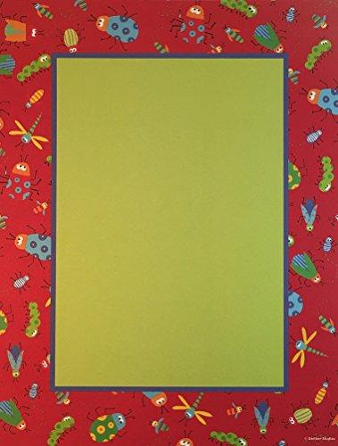 Bugs on Red Border Inkjet & Printer Paper - 40 Pack
