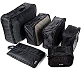 ALINK 6 Set Travel Packing Cubes,Travel Luggage Packing Organizers with Laundry Bag Or Toiletry Bag,Shoe Bag,Clothes Toys Bag