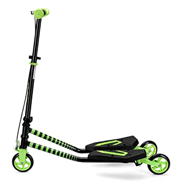 Patinete- Kick Scooter Verde con Freno De Mano, Plegable ...